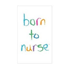 Born to Nurse Breastfeeding Rect. Decal