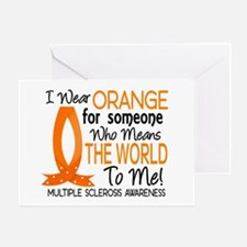 Means World To Me 1 Multiple Sclerosis Shirts Gree
