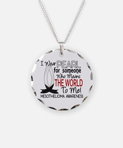 Means World To Me 1 Mesothelioma Shirts Necklace