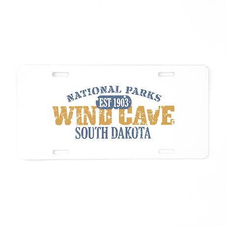 Wind Cave Park South Dakota Aluminum License Plate