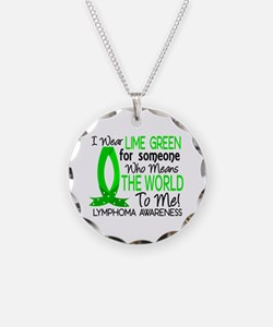 Means World To Me 1 Lymphoma Shirts Necklace