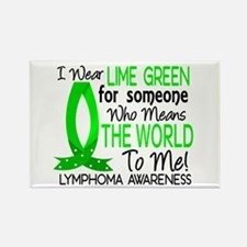 Means World To Me 1 Lymphoma Shirts Rectangle Magn