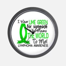 Means World To Me 1 Lymphoma Shirts Wall Clock