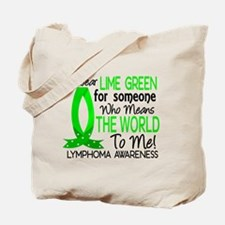 Means World To Me 1 Lymphoma Shirts Tote Bag