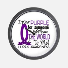 Means World To Me 1 Lupus Shirts Wall Clock