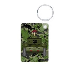 Saluting Soldier in Tank Keychains