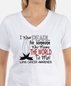 Means World To Me 1 Lung Cancer Shirts Shirt
