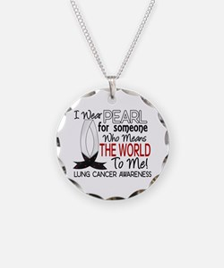 Means World To Me 1 Lung Cancer Shirts Necklace