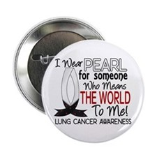 """Means World To Me 1 Lung Cancer Shirts 2.25"""" Butto"""