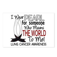 Means World To Me 1 Lung Cancer Shirts Postcards (