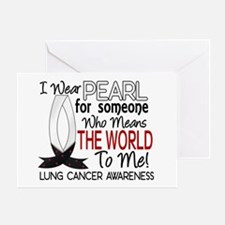 Means World To Me 1 Lung Cancer Shirts Greeting Ca