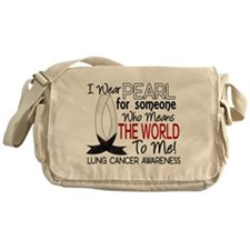 Means World To Me 1 Lung Cancer Shirts Messenger B