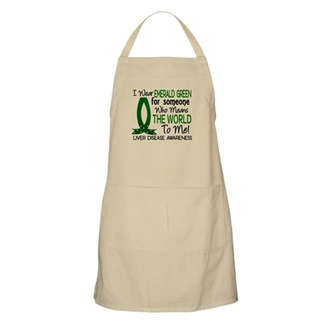 Means World To Me 1 Liver Disease Shirts Apron