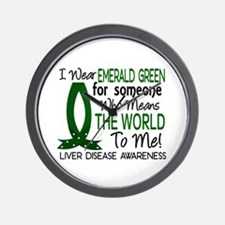 Means World To Me 1 Liver Disease Shirts Wall Cloc