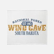 Wind Cave Park South Dakota Throw Blanket