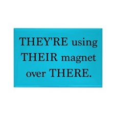 They're Their There - Rectangle Magnet