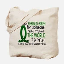 Means World To Me 1 Liver Cancer Shirts Tote Bag