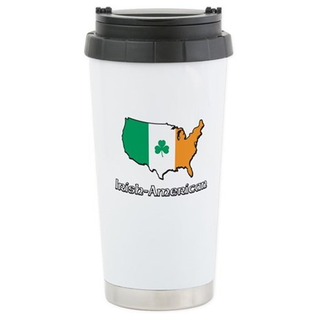 Irish-US Map Stainless Steel Travel Mug