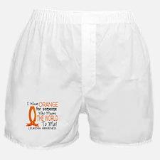 Means World To Me 1 Leukemia Shirts Boxer Shorts
