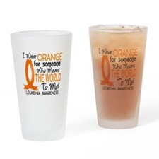 Means World To Me 1 Leukemia Shirts Drinking Glass