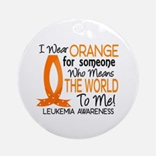 Means World To Me 1 Leukemia Shirts Ornament (Roun