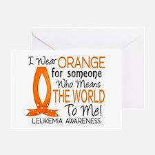 Means World To Me 1 Leukemia Shirts Greeting Card