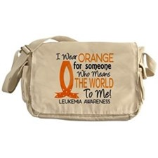 Means World To Me 1 Leukemia Shirts Messenger Bag