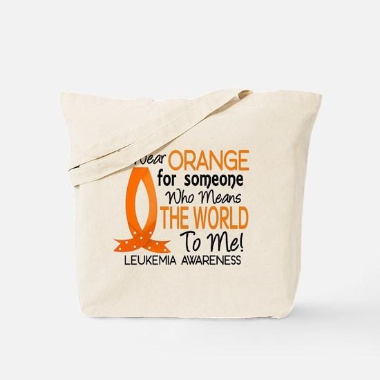 Means World To Me 1 Leukemia Shirts Tote Bag