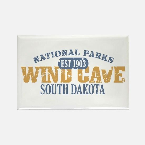 Wind Cave Park South Dakota Rectangle Magnet