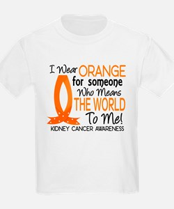 Means World To Me 1 Kidney Cancer Shirts T-Shirt