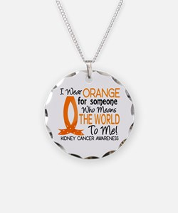 Means World To Me 1 Kidney Cancer Shirts Necklace
