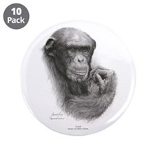 "Great Ape""Grub 'Style #3 3.5"" Button (10 pack)"