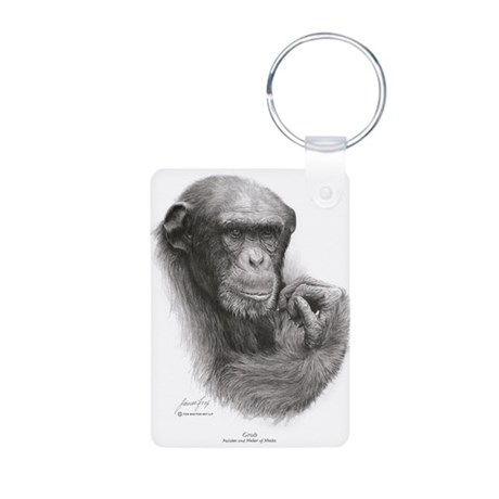 "Great Ape""Grub 'Style #3 Aluminum Photo Keychain"