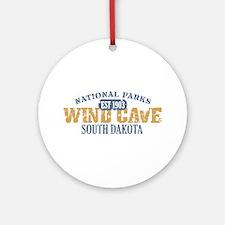 Wind Cave Park South Dakota Ornament (Round)