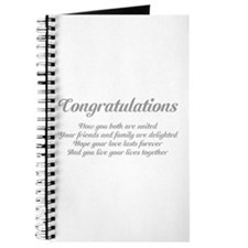Wedding Congratulations Poem. Journal