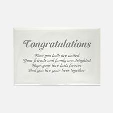 Wedding Congratulations Poem. Rectangle Magnet
