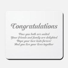 Wedding Congratulations Poem. Mousepad