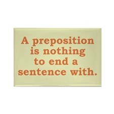 Preposition - Rectangle Magnet