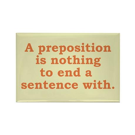 Preposition - Rectangle Magnet