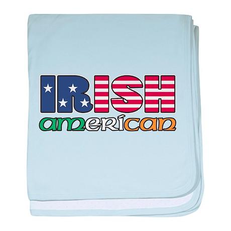 Irish-US Flags baby blanket