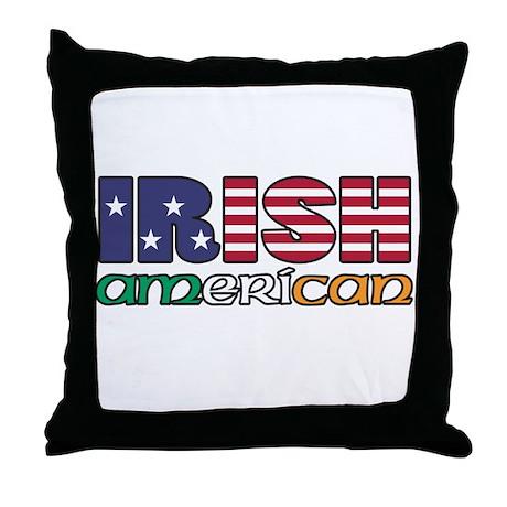 Irish-US Flags Throw Pillow