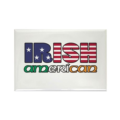 Irish-US Flags Rectangle Magnet