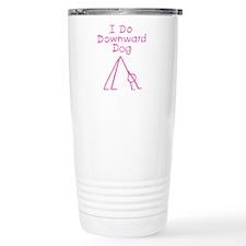 Pink Downward Dog Travel Mug