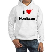I Heart Love Foxface Hoodie