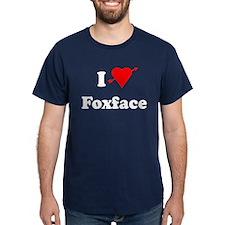 I Heart Love Foxface Dark T-Shirt