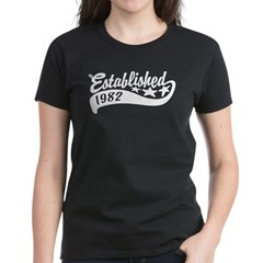 Established 1982 Women's Dark T-Shirt