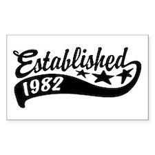 Established 1982 Decal