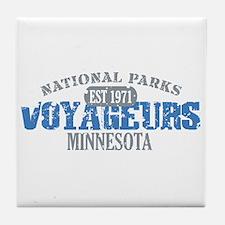 Voyageurs Park Minnesota Tile Coaster