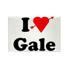 I Heart Love Gale Rectangle Magnet