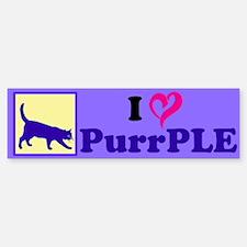 Purrple Bumper Bumper Sticker